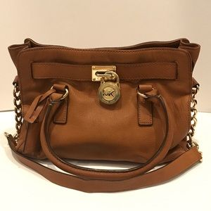 Michael Kors Hamilton Medium Tote Bag Luggage Gold